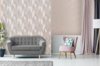 Graham and Brown Milan Geo Rose Gold 106407 Wallpaper